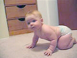 09-14-04 - Emma Crawling and Climbing
